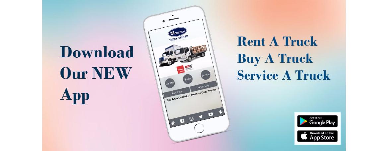 App Banner NEW! FRONT, Rentals, Sales, Parts, Service, Leasing, BodyShop