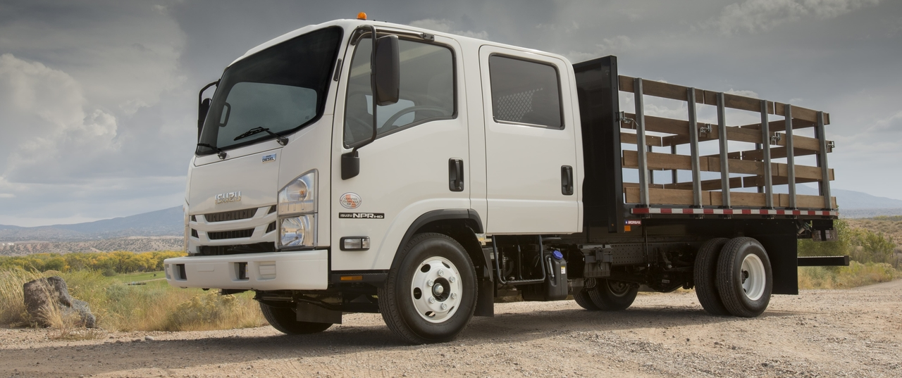 Home Page. Isuzu Truck on Rocky Road